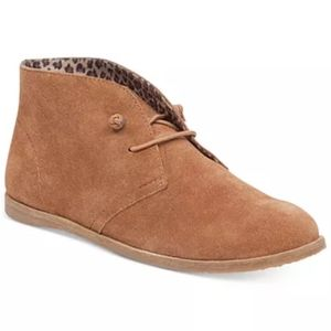 NEW Lucky Brand leather suede lace up booties 9.5